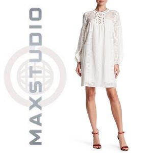 MAX STUDIO. White Eyelet Dress.